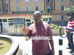 Tobacco Control Alliance, Joel Gitali speaking to Nairobi Times outside Supreme Court building after the ruling.